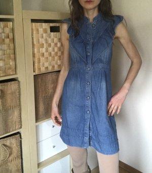 Jeanskleid mit Knöpfen, leicht gerüscht