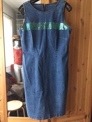 Jeanskleid mit Pailletten Gr. 40