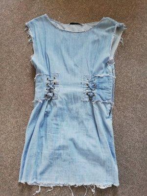 Jeanskleid mit Schnürung M