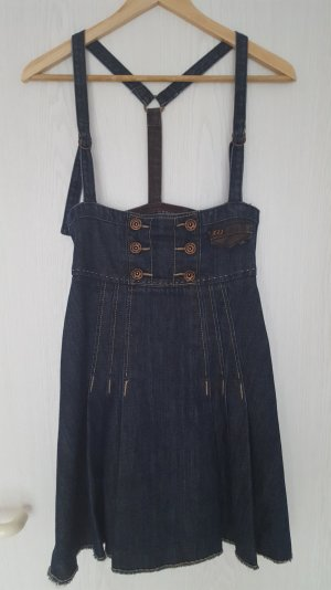 Jeanskleid mit Trägern im Dirndlstyle Gr. XS