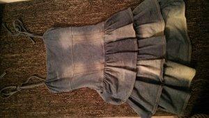 Jeanskleid mit Volants Gr.S von H&M