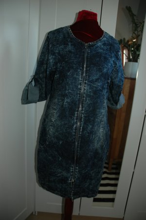 Denim Dress dark blue-white