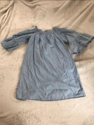 Bershka Denim Dress azure