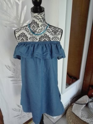 Jeanskleid One Size mit Halskette dazu!
