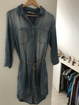 Only Robe en jean bleu azur