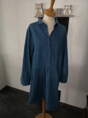 Monki Vestido vaquero azul acero