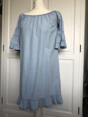 Jeanskleid schulterfrei von Vero Moda Größe M