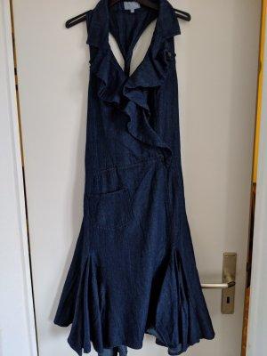 1060 Robe en jean bleu acier