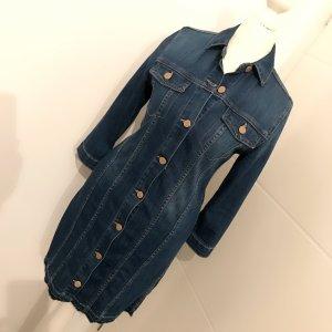 Le Temps des Cerises Denim Dress steel blue-dark blue