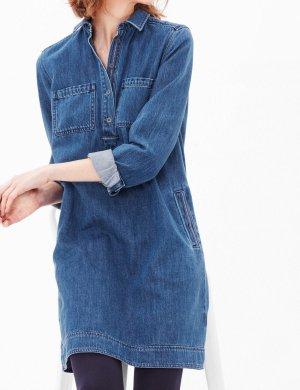 s.Oliver Blouse Dress steel blue cotton