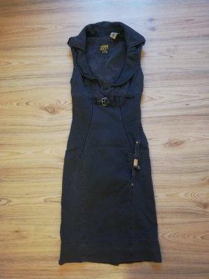 Miss Sixty Robe en jean gris-gris foncé coton