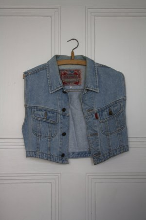 Denim Vest cornflower blue cotton