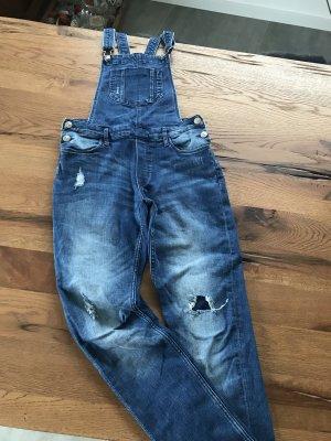 H&M Salopette en jeans bleu foncé