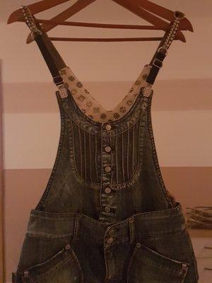 Jeanslatzkleid mit Strass