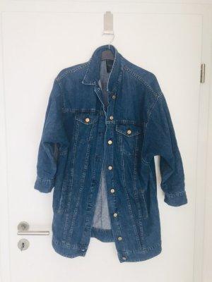 Zara Oversized Coat dark blue