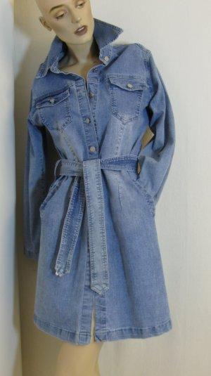 Jeansjurk lichtblauw-leigrijs