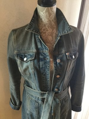Jeansmantel von Miss Sixty, tailliert mit Bindegürtel