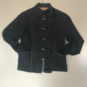Denim Blazer dark blue-black cotton
