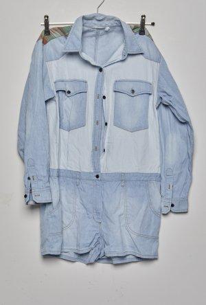 Isabel Marant Étoile Chemise en jean gris ardoise-bleu pâle coton