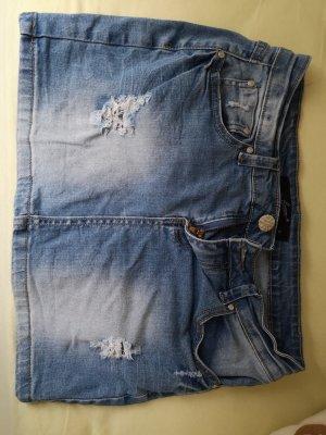 Spijkerrok korenblauw