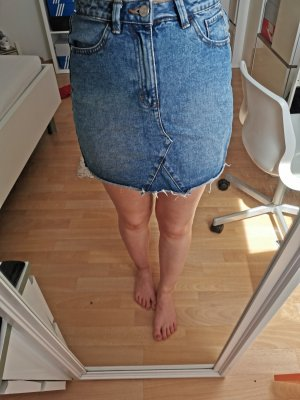 Denim Skirt cornflower blue