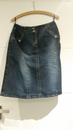 Yessica Jupe en jeans bleu
