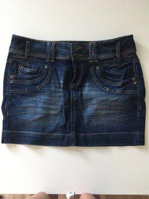 QS by s.Oliver Denim Skirt dark blue