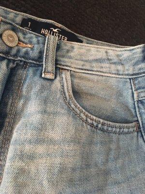 Hollister Jupe en jeans bleu azur-blanc