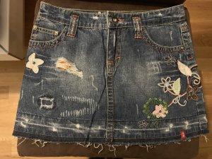 Edc Esprit Gonna di jeans multicolore