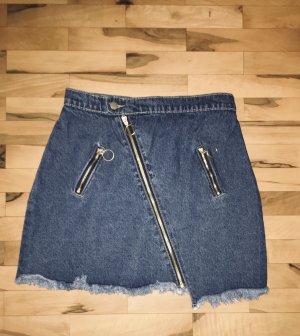SheIn Gonna di jeans blu acciaio