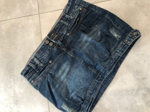 Takko Denim Skirt cream-dark blue