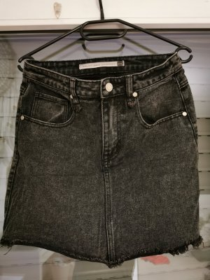 Brave Soul Denim Skirt dark grey