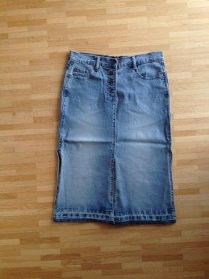 Gonna di jeans azzurro-blu pallido