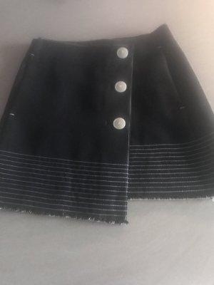 Mango Asymmetry Skirt dark blue-black