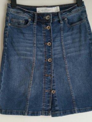 H&M L.O.G.G. Denim Skirt blue-steel blue mixture fibre