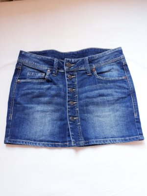 Mango Jeans Jupe en jeans bleu foncé