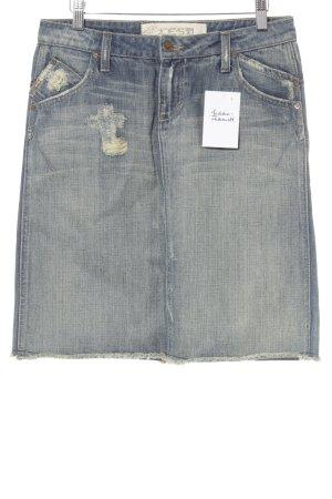 Denim Skirt dark blue jeans look