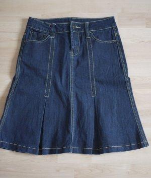 Gonna di jeans blu scuro Cotone
