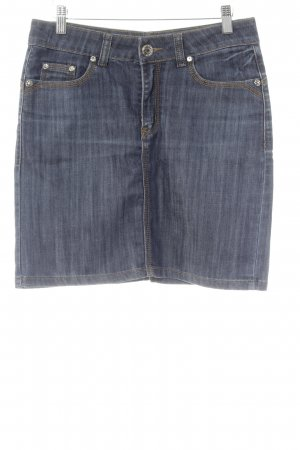 Spijkerrok donkerblauw vintage uitstraling