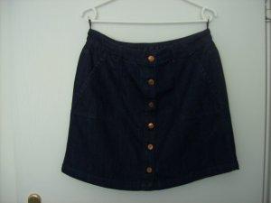 Esprit Denim Skirt dark blue cotton