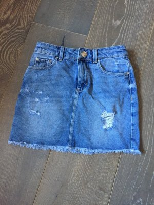 Hallhuber Jupe en jeans argenté-bleu azur