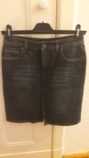 Jupe en jeans multicolore tissu mixte
