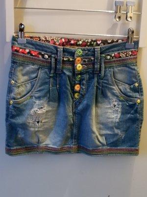 Jupe en jeans multicolore