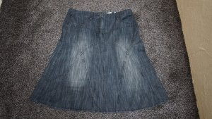 #Jeansrock, Gr. 40, black-used, #Street One, #neu