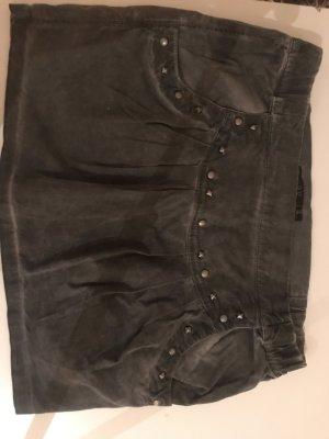 Jeansrock grau mit Nieten