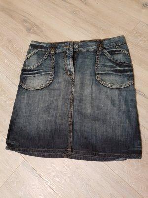 Jeansrock Größe 40, ca. knielang, H&M, used Look