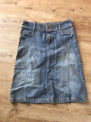 H&M Divided Denim Skirt azure-cornflower blue