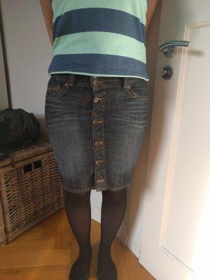 Hilfiger Denim Denim Skirt dark blue cotton