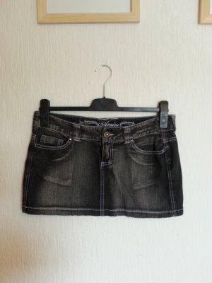 Jeansrock in Farbe Schwarz