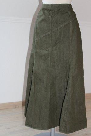 Eugen Klein Jupe en jeans gris vert-vert foncé coton